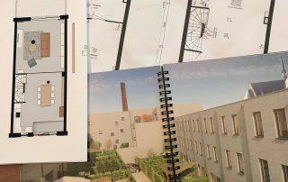 Tekening impressie plattegrond nieuwbouw nieuwbouwwoning nieuwbouwhuis kadewoning Defensie-eiland Midden Woerden